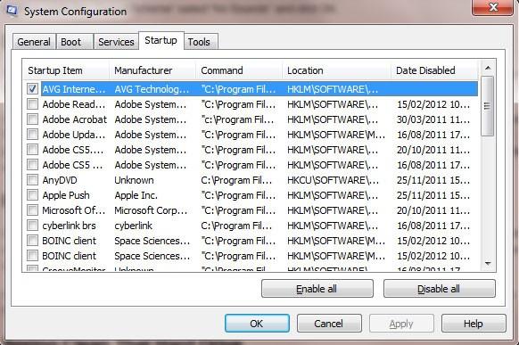 Windows Startup Programs