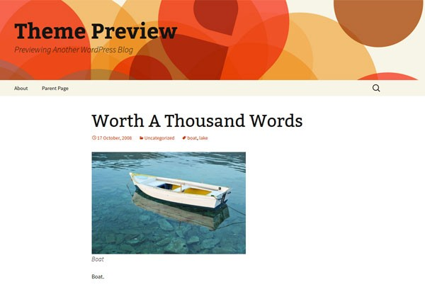 Twenty Thirteen by WordPress.org