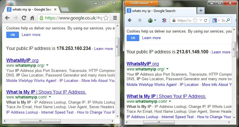Testing IP in Tor Browser