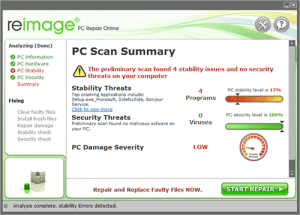 reimage main screen