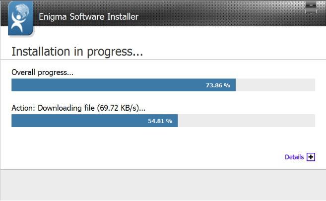Spyhunter Install progress screen